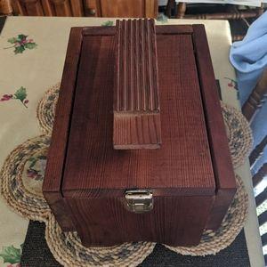 Handmade shoe shine box